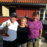 Kjetil, Cathrine og caddy Frode